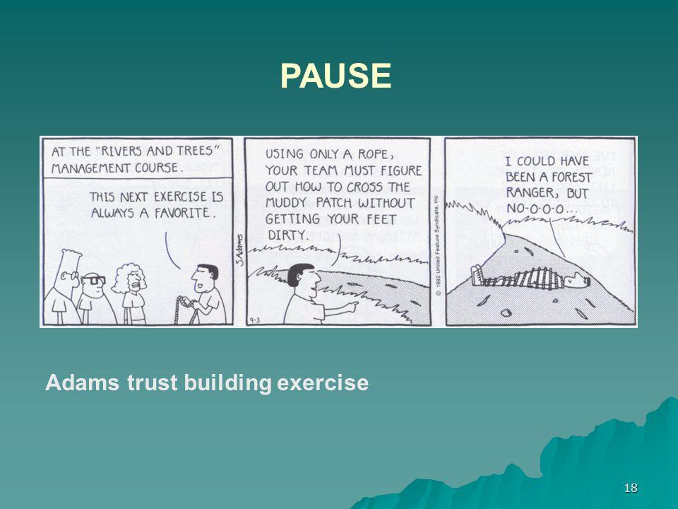 18 PAUSE Adams trust building exercise