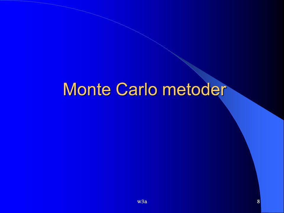 w3a8 Monte Carlo metoder