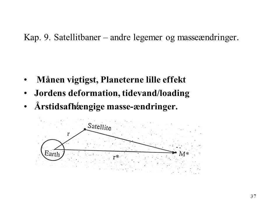 37 Kap. 9. Satellitbaner – andre legemer og masseændringer.