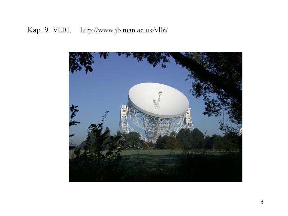 6 Kap. 9. VLBI, http://www.jb.man.ac.uk/vlbi/