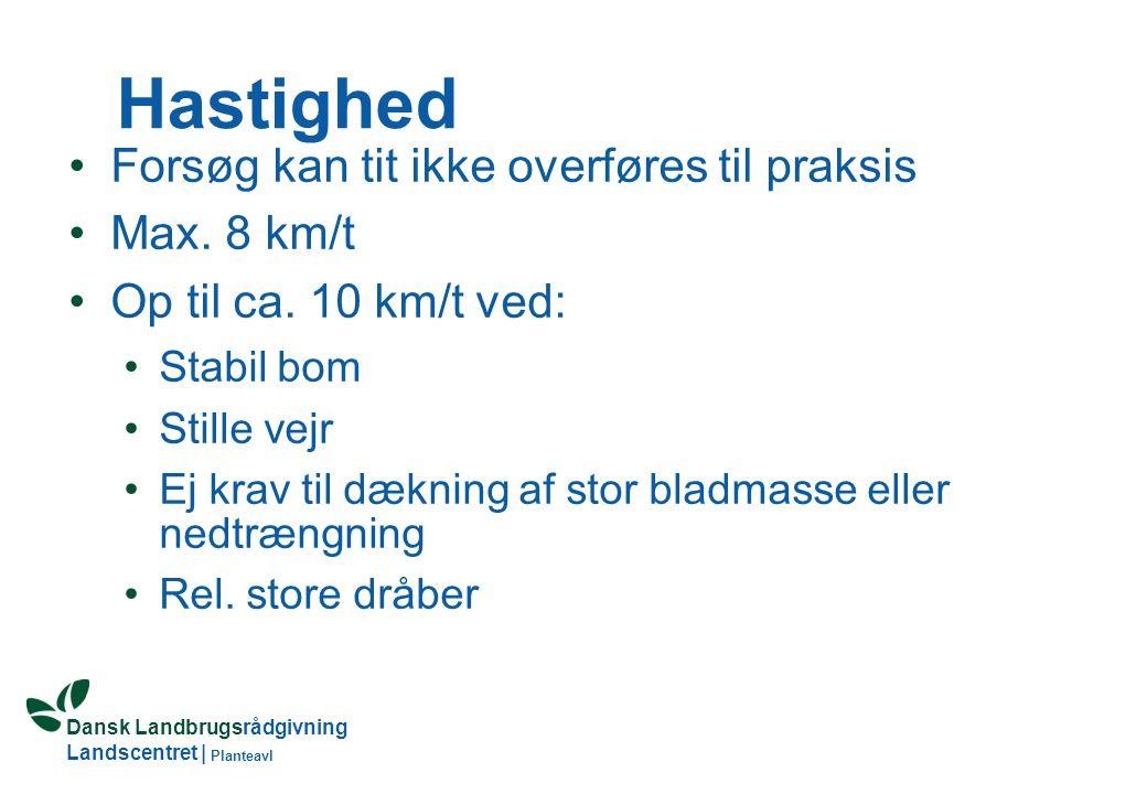 Dansk Landbrugsrådgivning Landscentret | Planteavl Hastighed Forsøg kan tit ikke overføres til praksis Max.