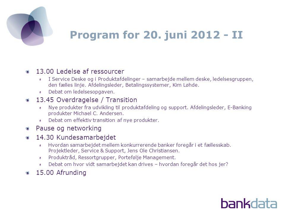 Program for 20.