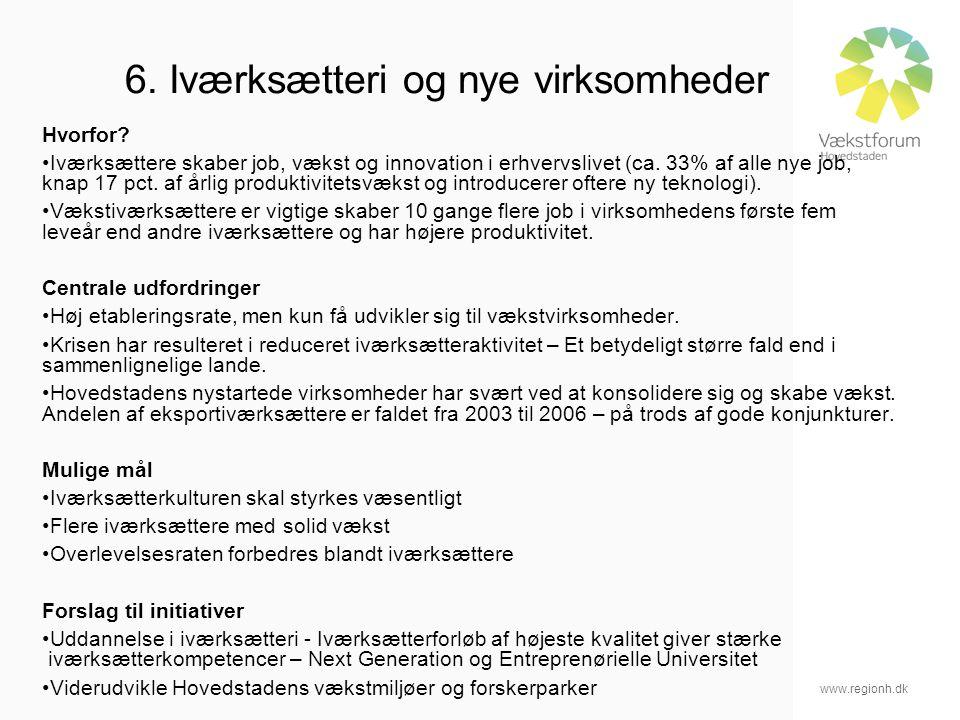 www.regionh.dk 6. Iværksætteri og nye virksomheder Hvorfor.