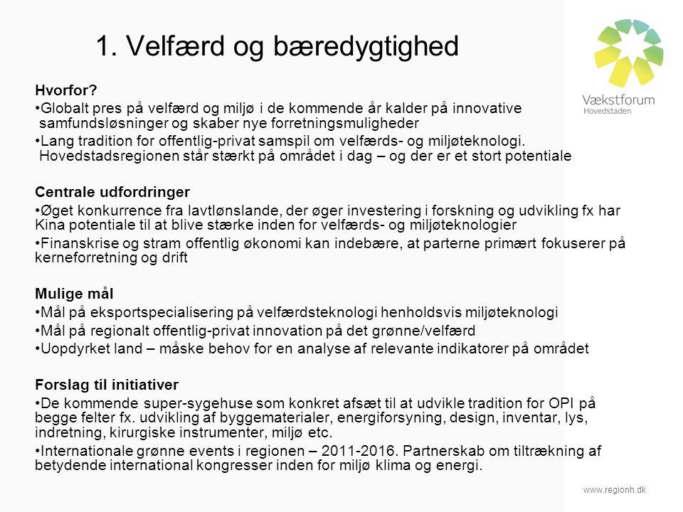 www.regionh.dk 1. Velfærd og bæredygtighed Hvorfor.