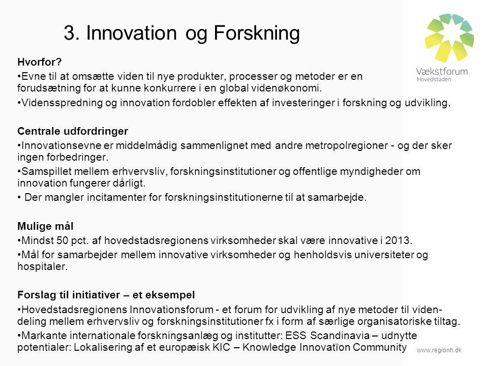 www.regionh.dk 3. Innovation og Forskning Hvorfor.