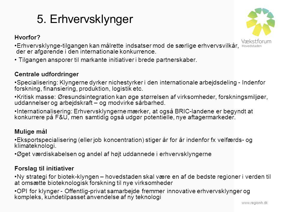 www.regionh.dk 5. Erhvervsklynger Hvorfor.