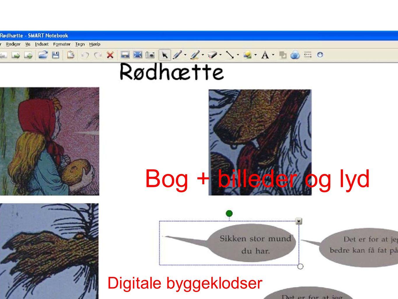 Digitale byggeklodser Bog + billeder og lyd
