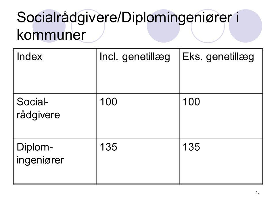 13 Socialrådgivere/Diplomingeniører i kommuner IndexIncl.