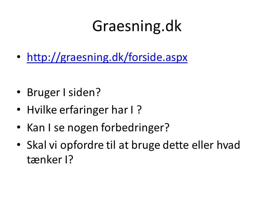 Graesning.dk http://graesning.dk/forside.aspx Bruger I siden.