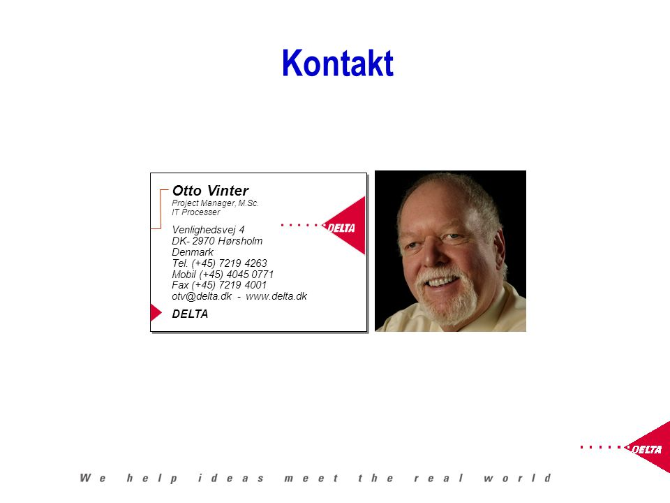 Kontakt Otto Vinter Project Manager, M.Sc.