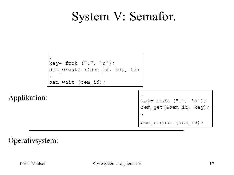 Per P. MadsenStyresystemer og tjenester17 System V: Semafor.