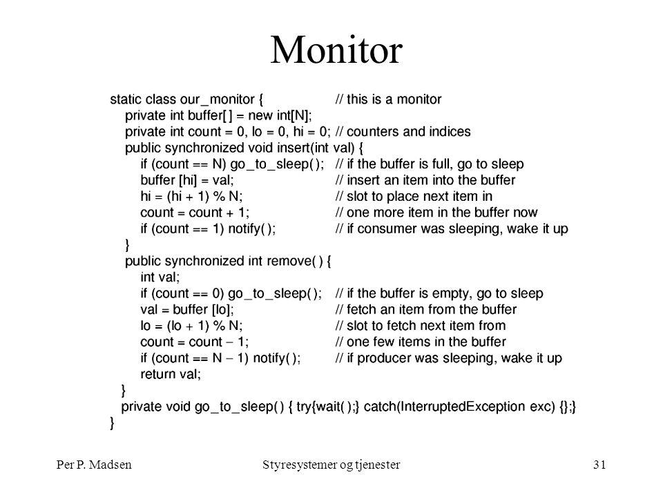 Per P. MadsenStyresystemer og tjenester31 Monitor