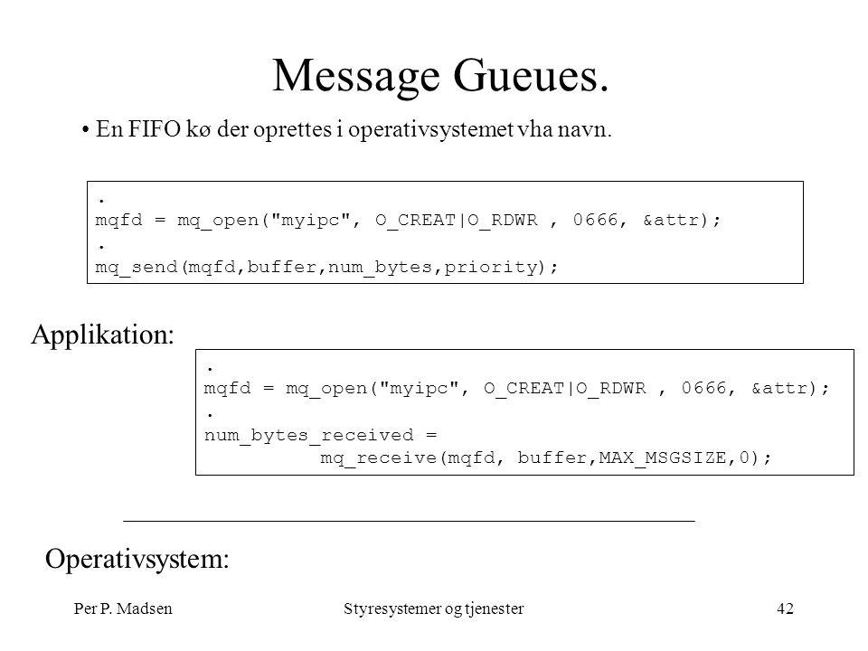 Per P. MadsenStyresystemer og tjenester42 Message Gueues.