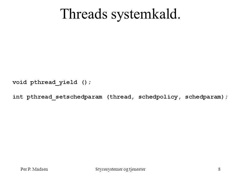 Per P. MadsenStyresystemer og tjenester8 Threads systemkald.