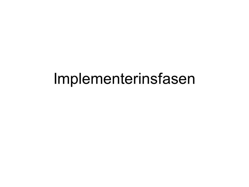 Implementerinsfasen