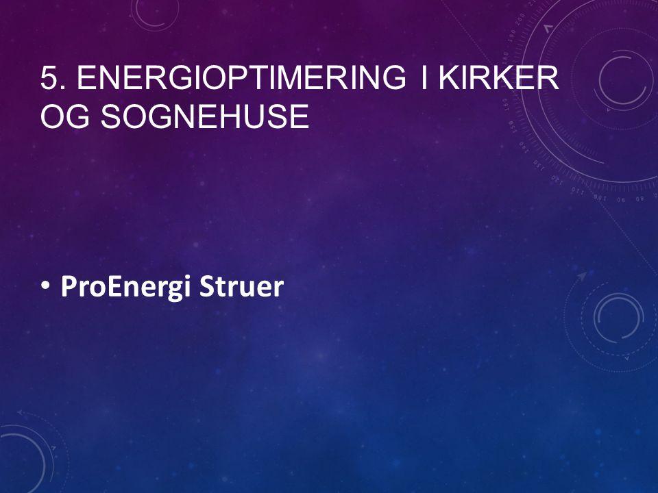 5. ENERGIOPTIMERING I KIRKER OG SOGNEHUSE ProEnergi Struer