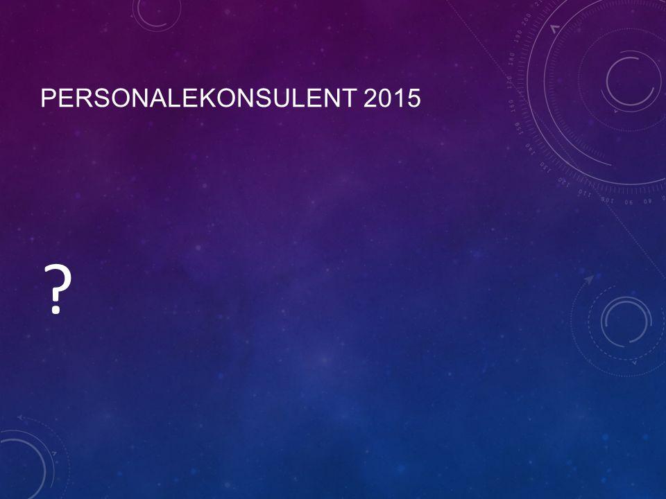 PERSONALEKONSULENT 2015