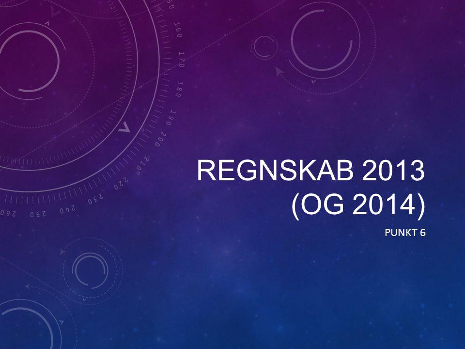 REGNSKAB 2013 (OG 2014) PUNKT 6
