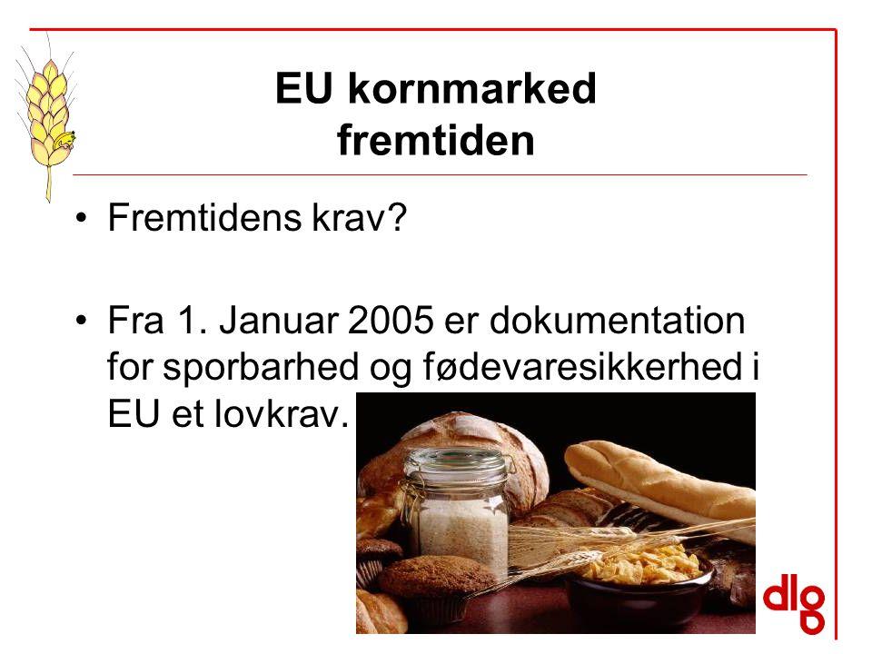 EU kornmarked fremtiden Fremtidens krav. Fra 1.