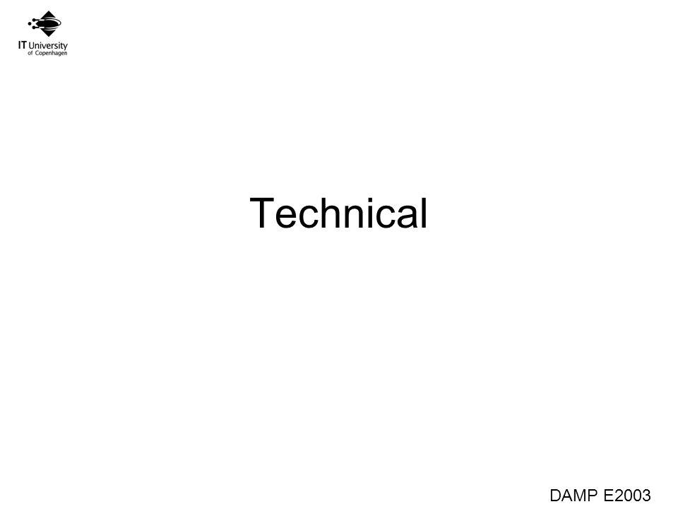 DAMP E2003 Technical