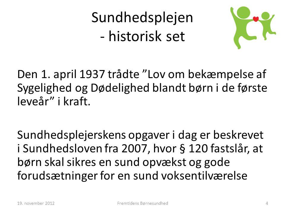 Sundhedsplejen - historisk set Den 1.