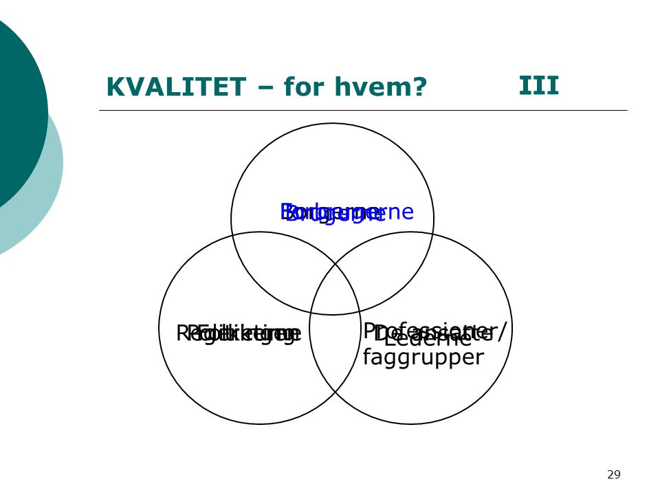 29 KVALITET – for hvem.