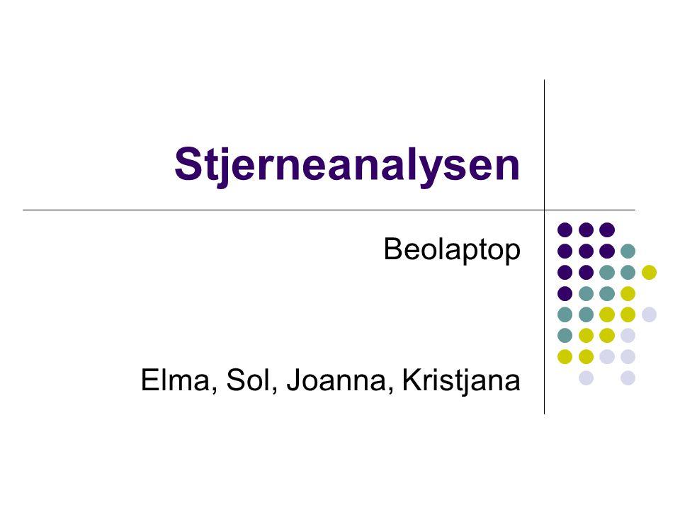 Stjerneanalysen Beolaptop Elma, Sol, Joanna, Kristjana