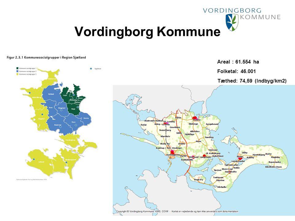 Punktopstilling Marker den ønskede tekst og vælg Forøg indrykning: For at fjerne punktmarkering vælg Formindsk indrykning: Vordingborg Kommune Areal : 61.554 ha Folketal: 46.001 Tæthed: 74,59 (Indbyg/km2)