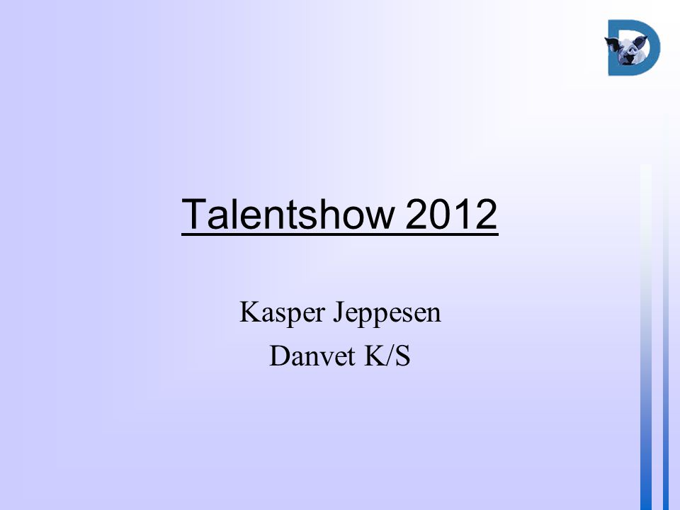 Talentshow 2012 Kasper Jeppesen Danvet K/S
