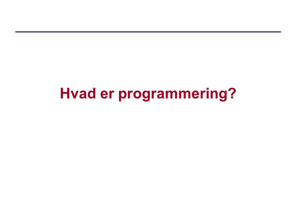 Hvad er programmering