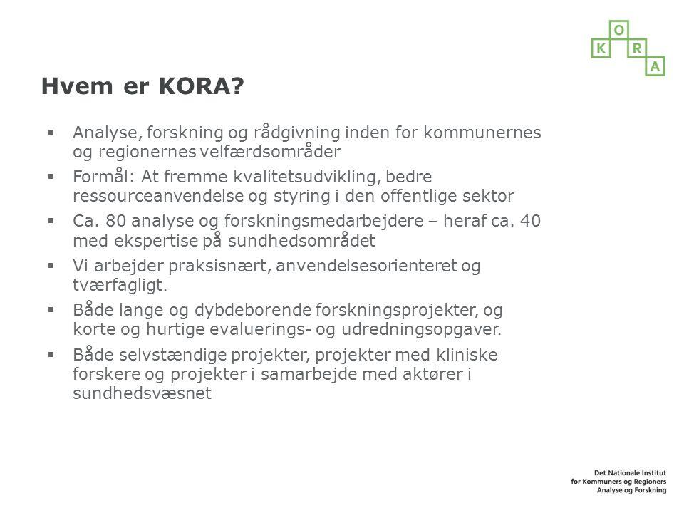 Hvem er KORA.