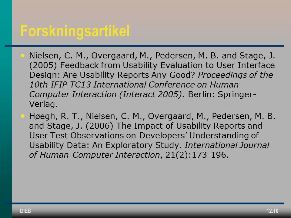 DIEB12.10 Forskningsartikel Nielsen, C. M., Overgaard, M., Pedersen, M.