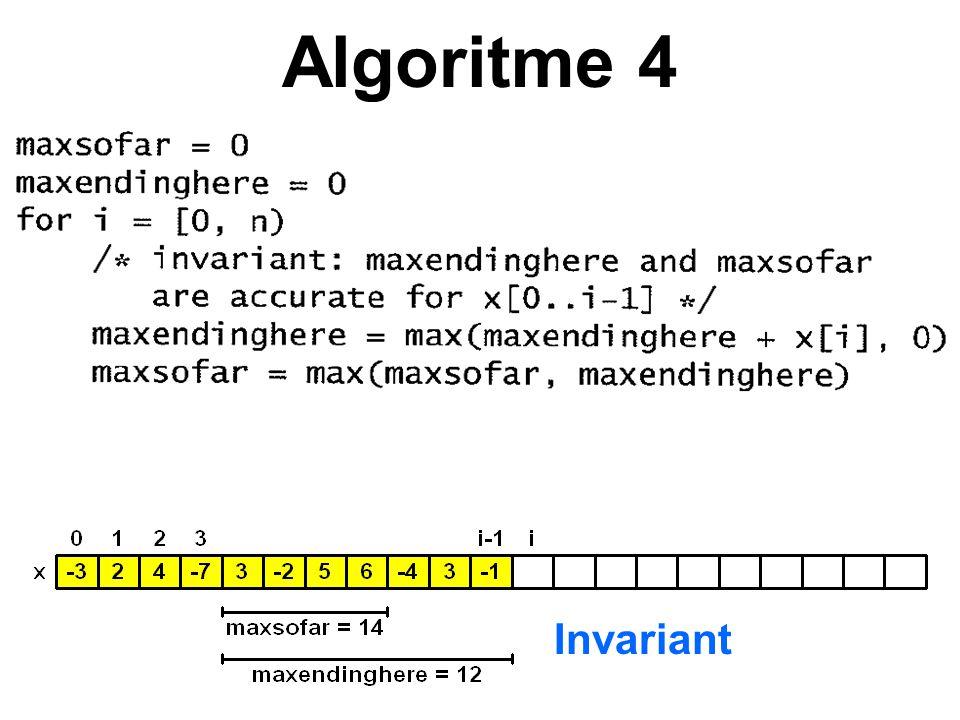 Algoritme 4 Invariant