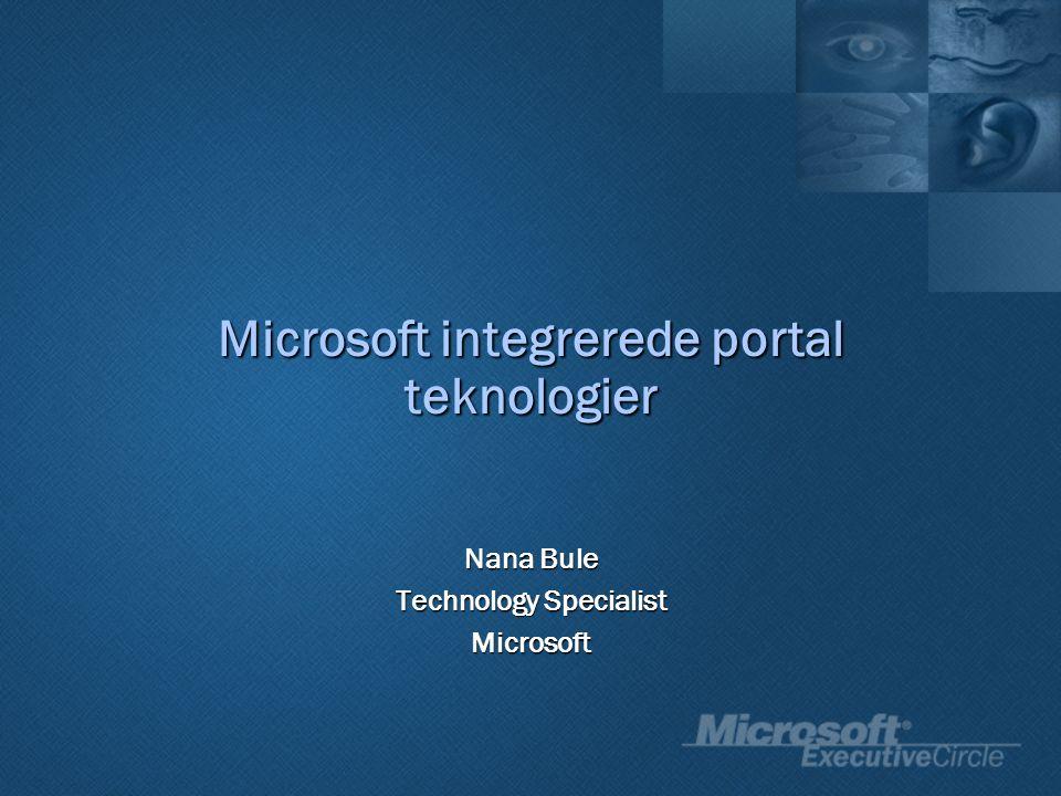 Nana Bule Technology Specialist Microsoft Microsoft integrerede portal teknologier