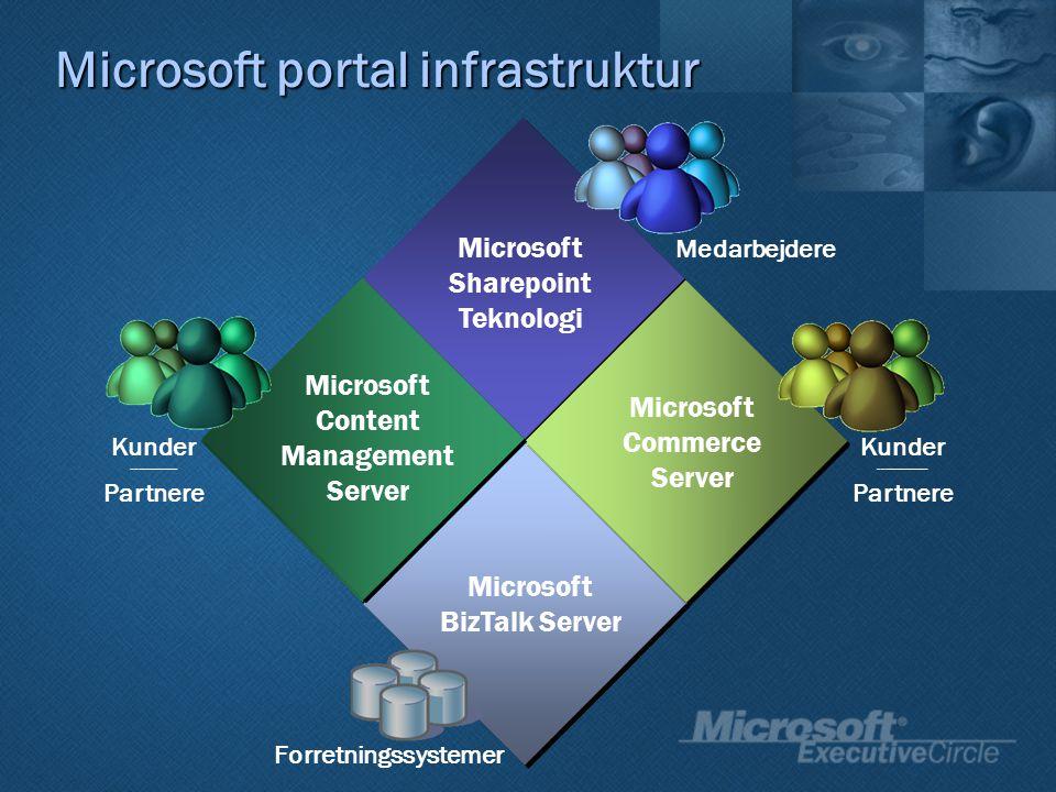 Microsoft portal infrastruktur Medarbejdere Forretningssystemer Kunder ---------------- Partnere Kunder --------------- Partnere Videndeling Samarbejde Dok.