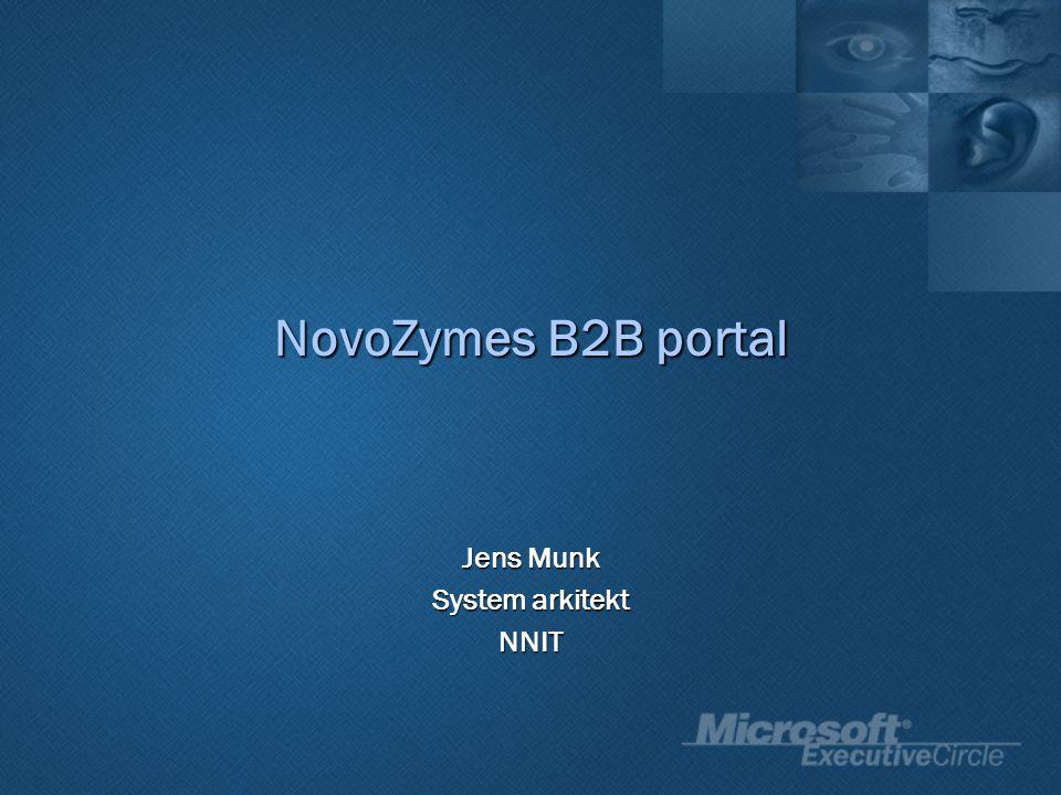 Jens Munk System arkitekt NNIT NovoZymes B2B portal