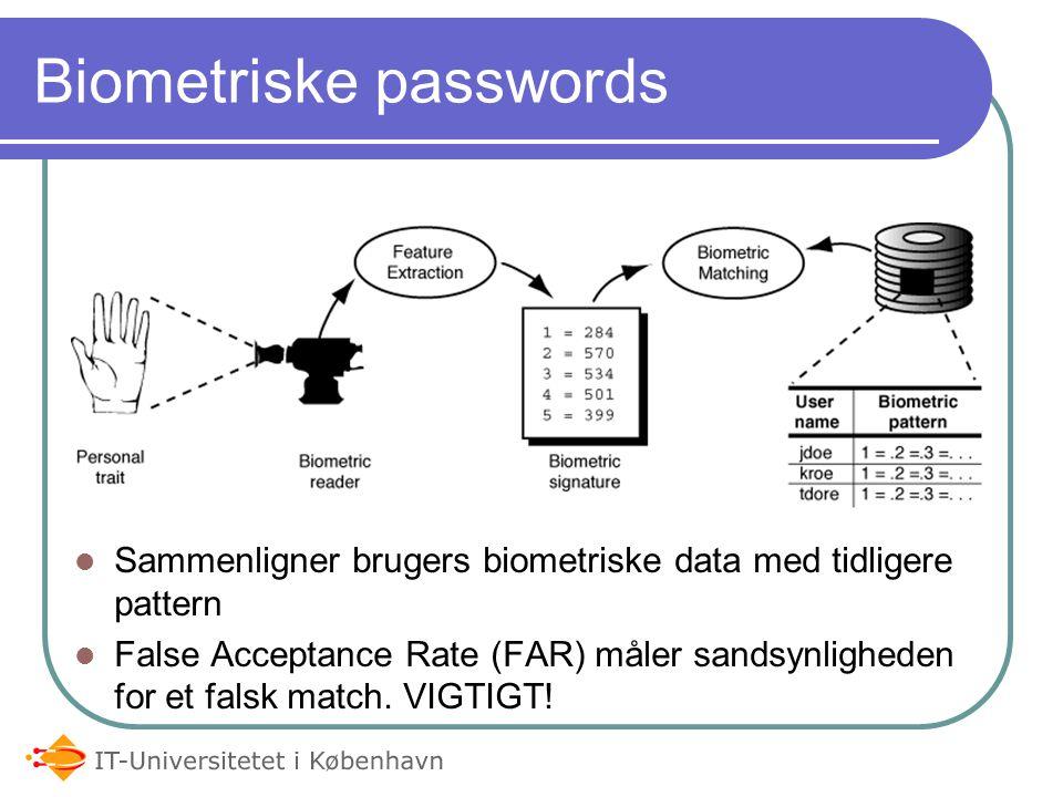 Off-line authentication F.eks.