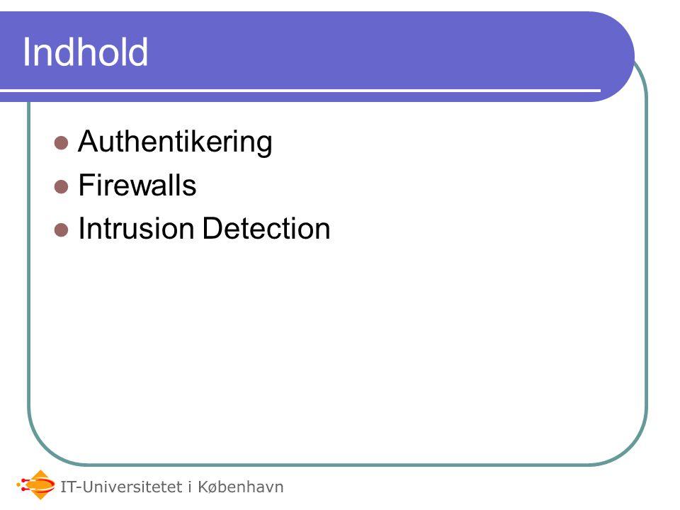 IT Arkitektur og Sikkerhed Netværks-, Internet- og applikationssikkerhed