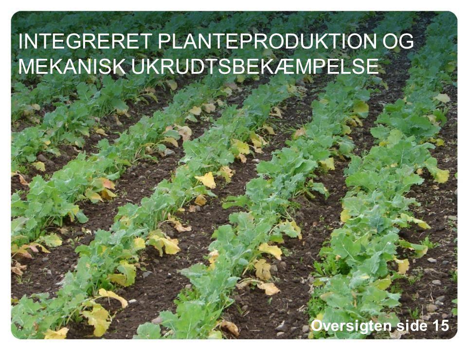 INTEGRERET PLANTEPRODUKTION OG MEKANISK UKRUDTSBEKÆMPELSE Oversigten side 15