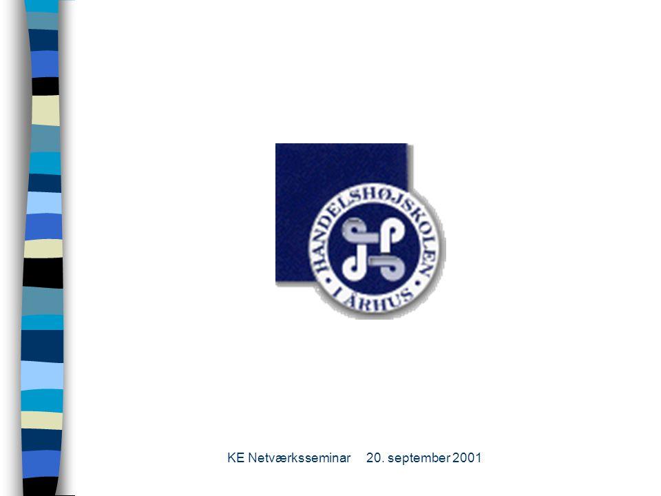 KE Netværksseminar20. september 2001