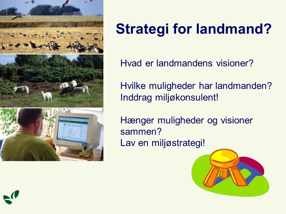 Strategi for landmand. Hvad er landmandens visioner.