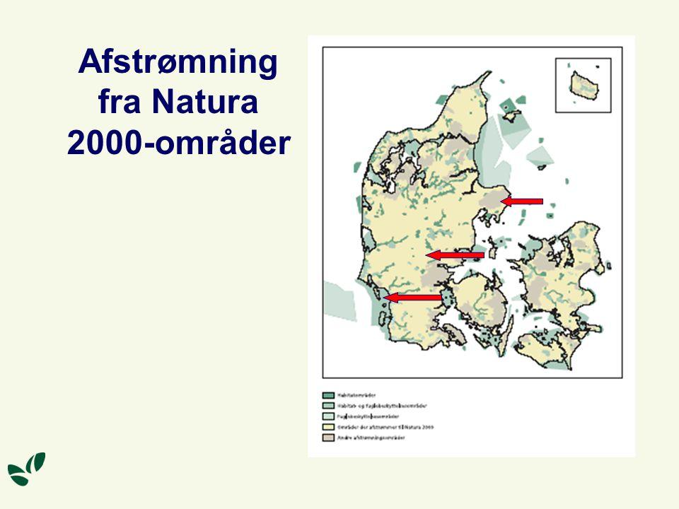 Afstrømning fra Natura 2000-områder