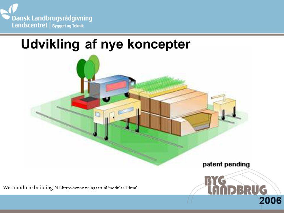 Wes modular building,NL http://www.wijngaart.nl/modularII.html Udvikling af nye koncepter