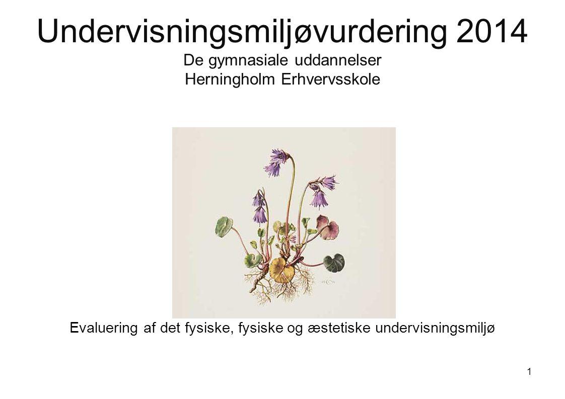 Undervisningsmiljøvurdering 2014 De gymnasiale uddannelser Herningholm Erhvervsskole Evaluering af det fysiske, fysiske og æstetiske undervisningsmiljø 1