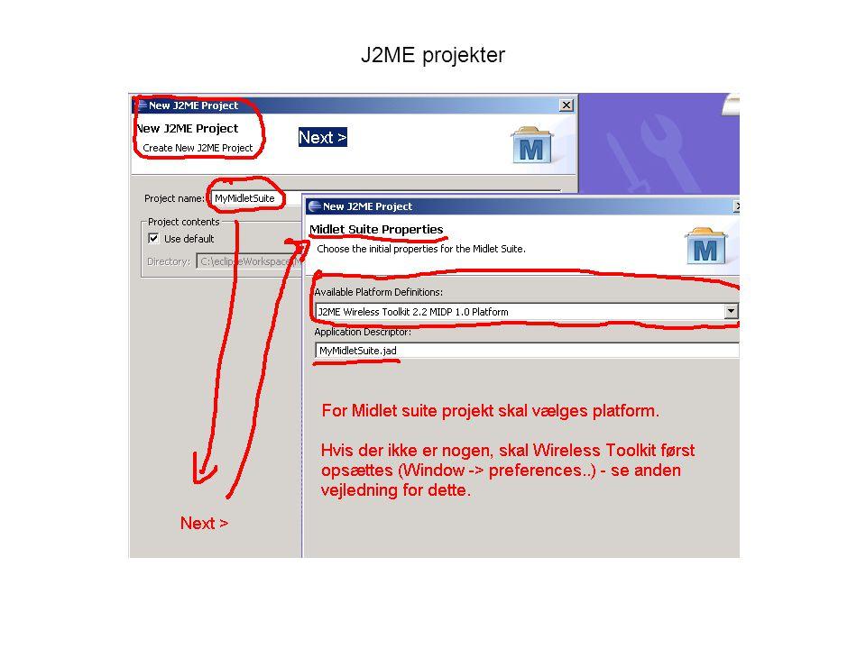 J2ME projekter