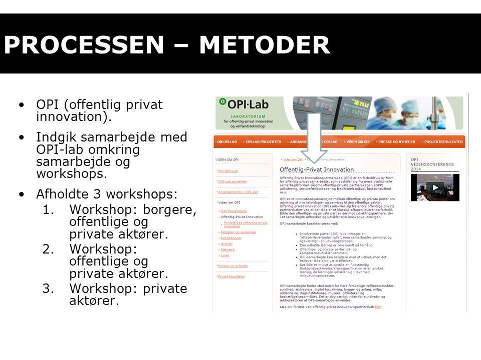 PROCESSEN – METODER OPI (offentlig privat innovation).