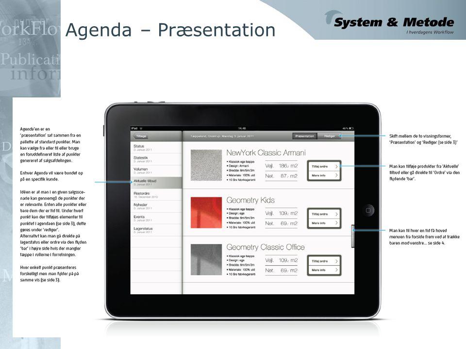 Agenda – Præsentation