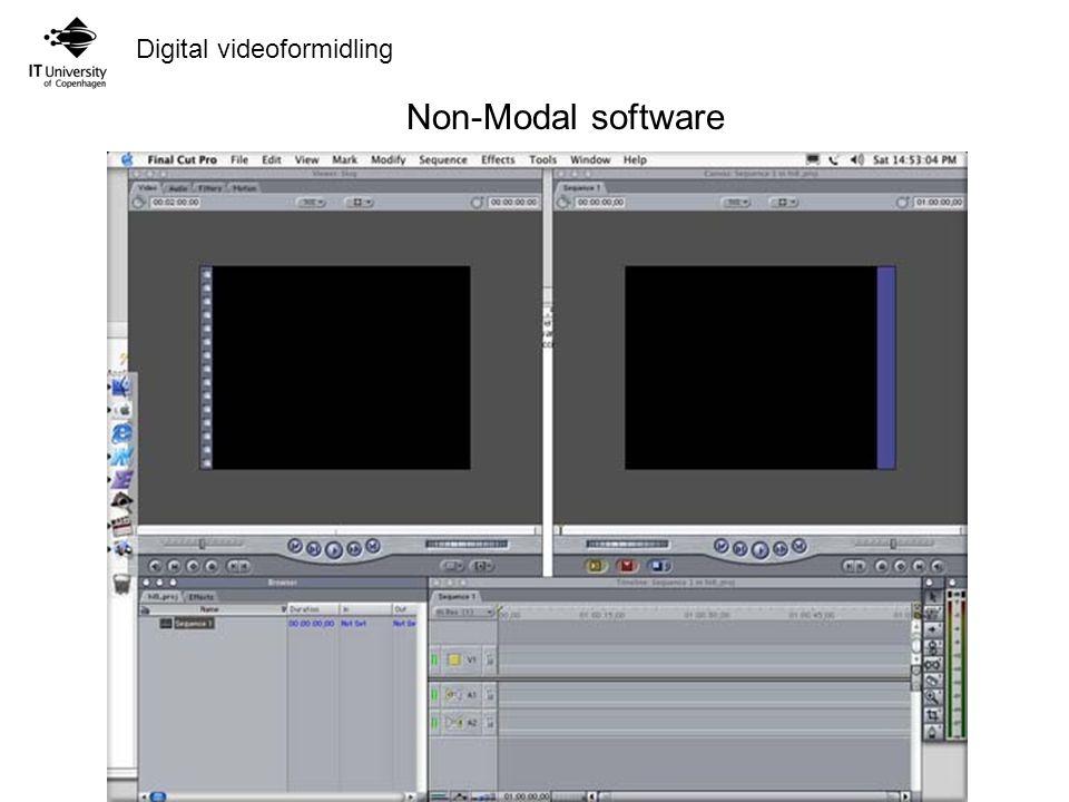 Digital videoformidling Non-Modal software