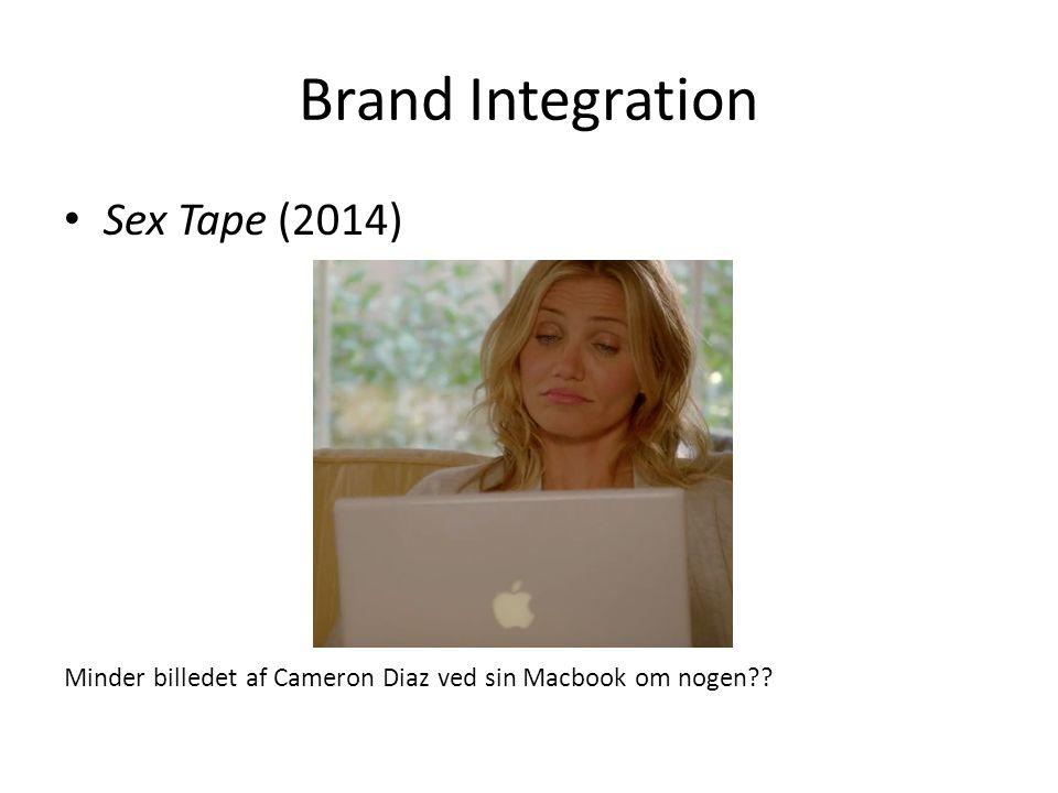 Brand Integration Sex Tape (2014) Minder billedet af Cameron Diaz ved sin Macbook om nogen