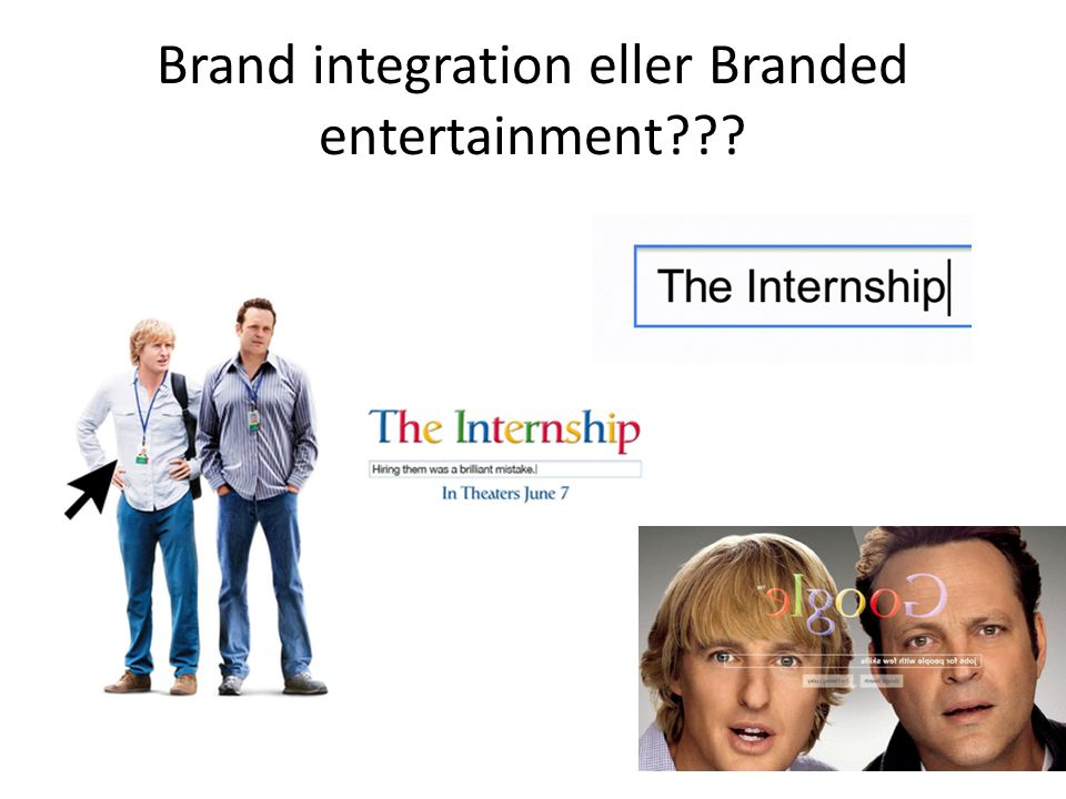 Brand integration eller Branded entertainment